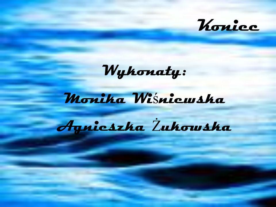 Koniec Wykonały: Monika Wiśniewska Agnieszka Żukowska