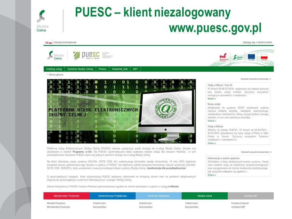 PUESC – klient niezalogowany www.puesc.gov.pl