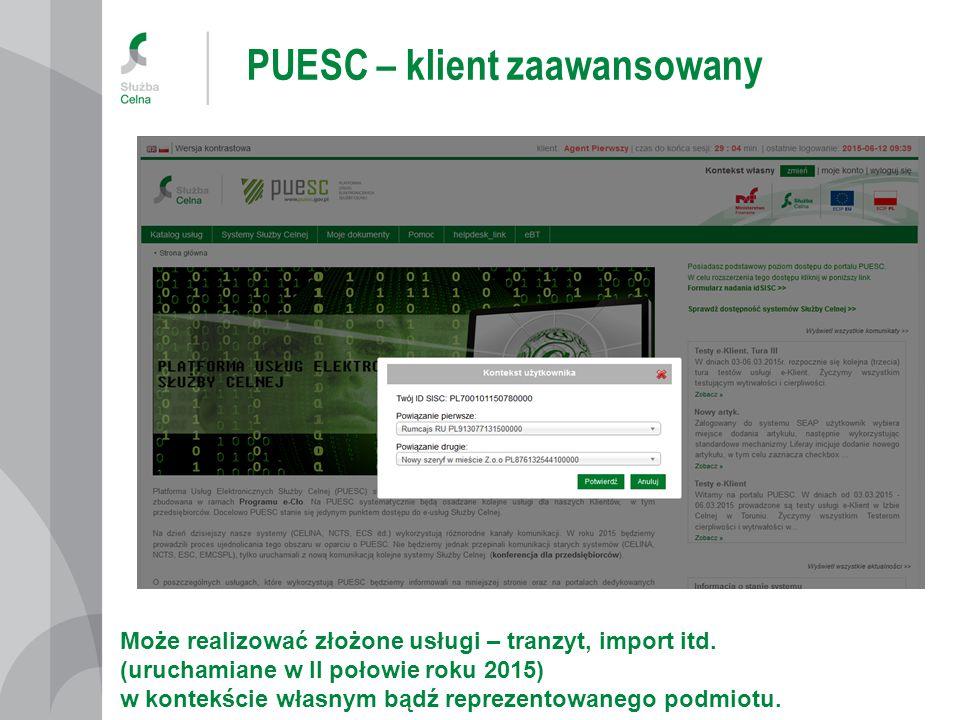 PUESC – klient zaawansowany