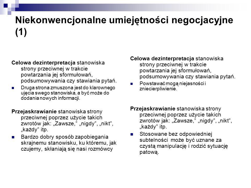 Niekonwencjonalne umiejętności negocjacyjne (1)