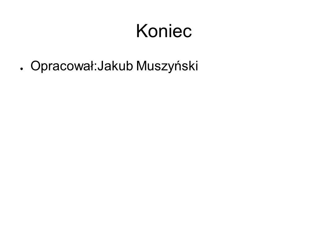 Koniec Opracował:Jakub Muszyński