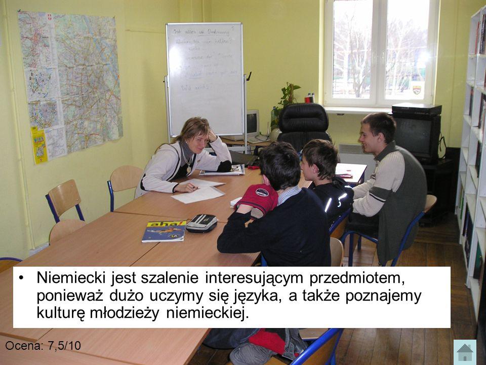Niemiecki jest szalenie interesującym przedmiotem, ponieważ dużo uczymy się języka, a także poznajemy kulturę młodzieży niemieckiej.
