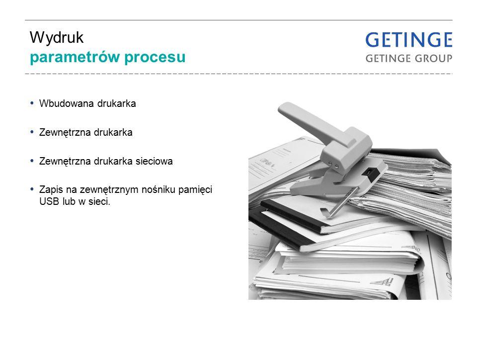 Wydruk parametrów procesu