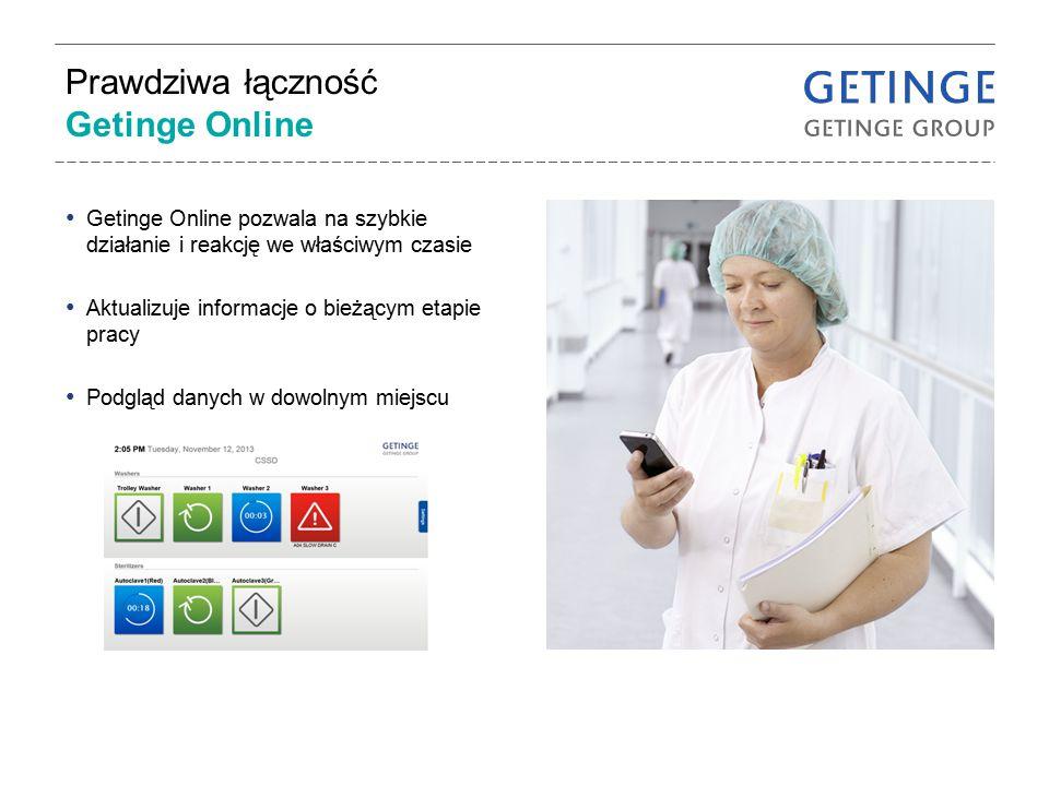 Prawdziwa łączność Getinge Online