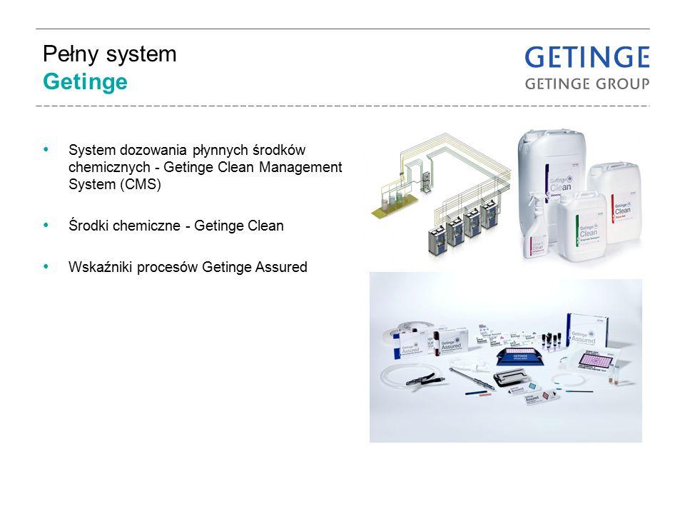 Pełny system Getinge System dozowania płynnych środków chemicznych - Getinge Clean Management System (CMS)