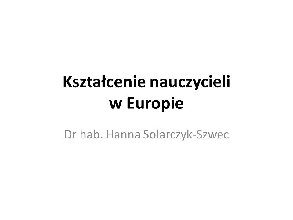 Kształcenie nauczycieli w Europie