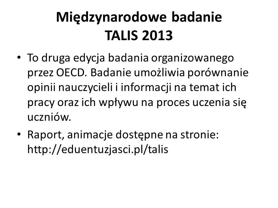 Międzynarodowe badanie TALIS 2013