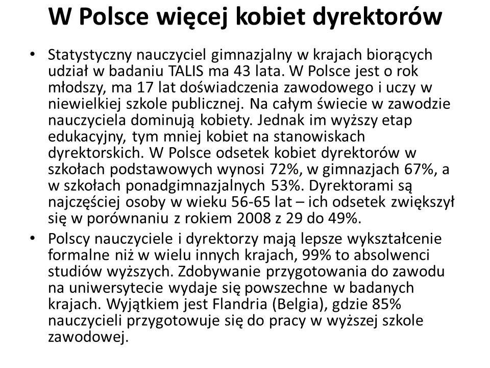 W Polsce więcej kobiet dyrektorów