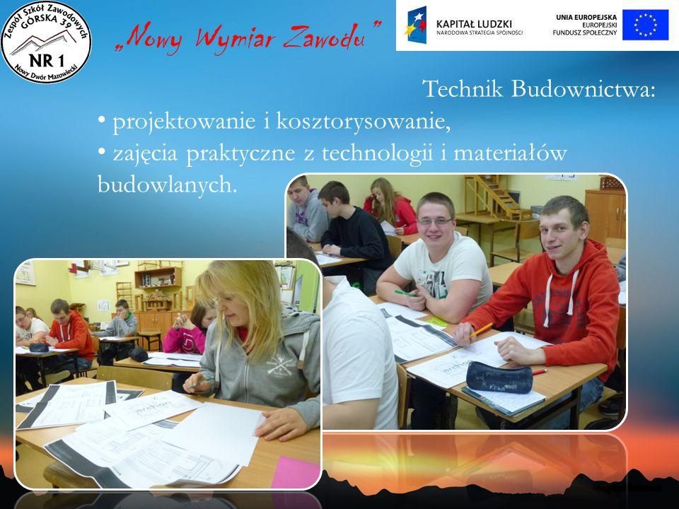 """""""Nowy Wymiar Zawodu Technik Budownictwa:"""