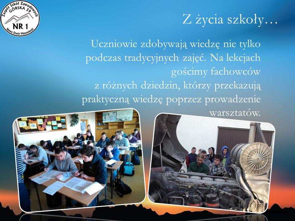 Z życia szkoły… Uczniowie zdobywają wiedzę nie tylko podczas tradycyjnych zajęć. Na lekcjach gościmy fachowców.