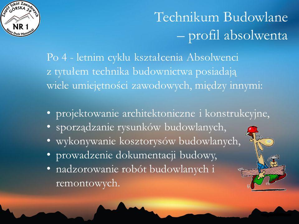 Technikum Budowlane – profil absolwenta