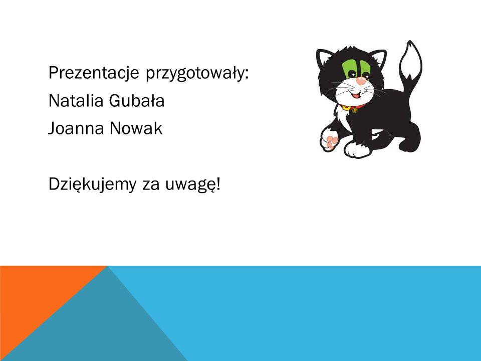 Prezentacje przygotowały: Natalia Gubała Joanna Nowak Dziękujemy za uwagę!