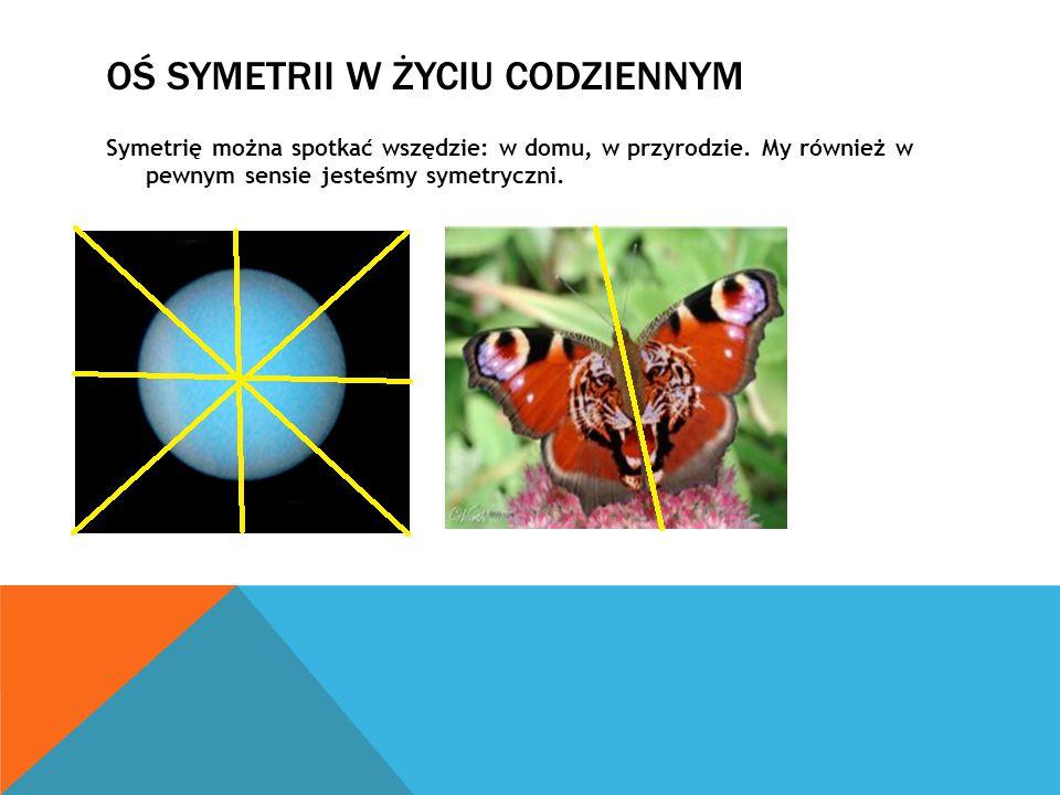 Oś symetrii w życiu codziennym