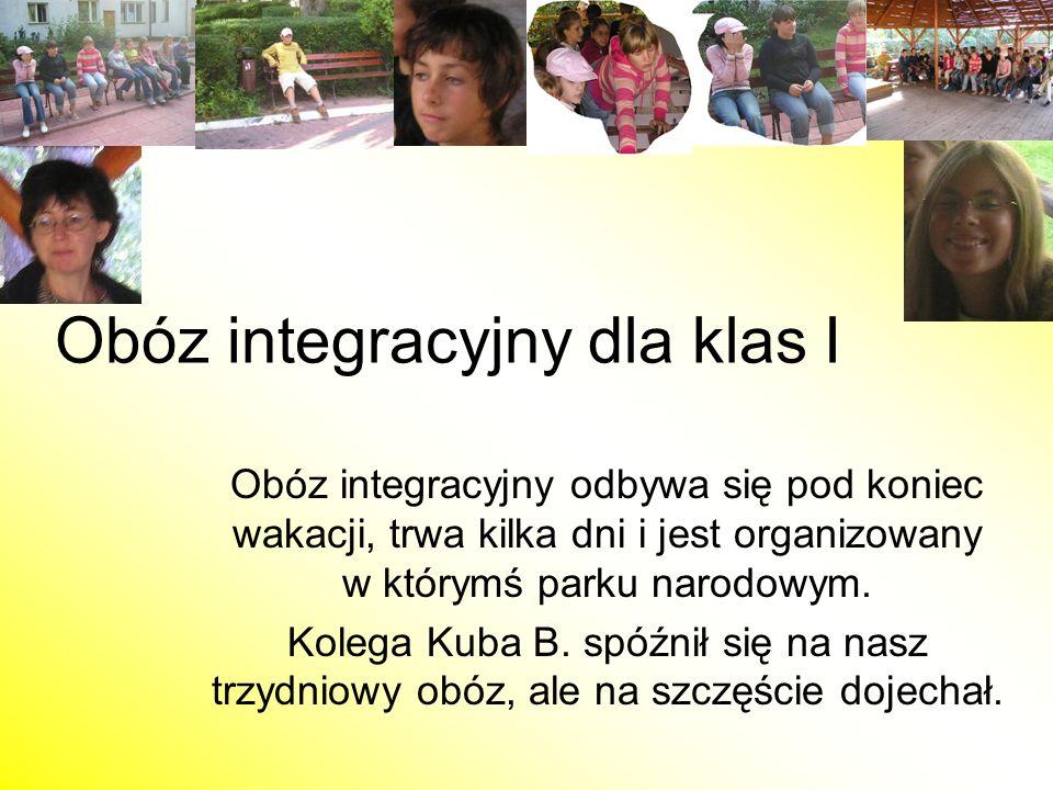 Obóz integracyjny dla klas I