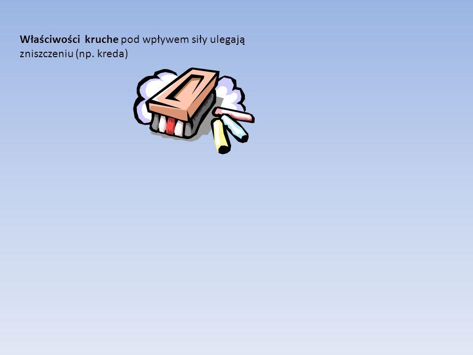 Właściwości kruche pod wpływem siły ulegają zniszczeniu (np. kreda)