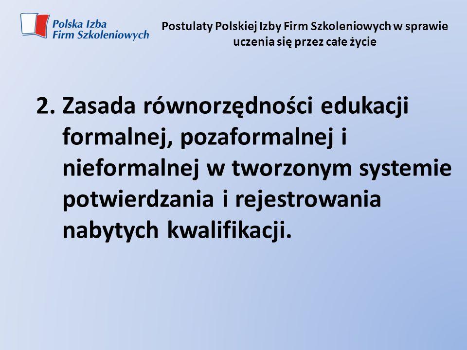 Postulaty Polskiej Izby Firm Szkoleniowych w sprawie uczenia się przez całe życie