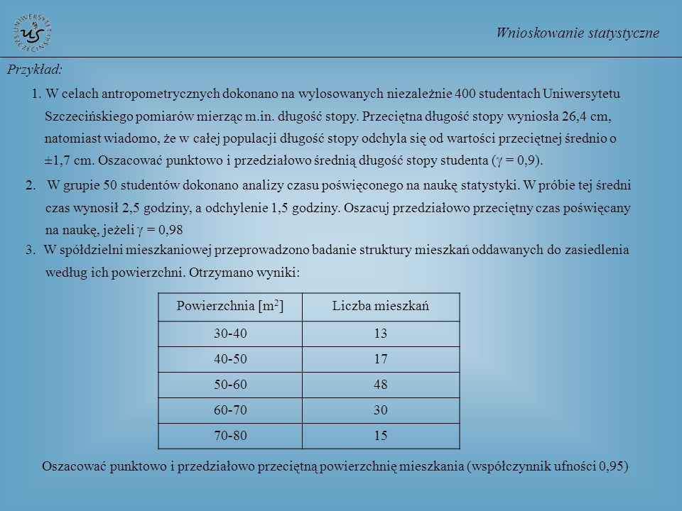 Wnioskowanie statystyczne