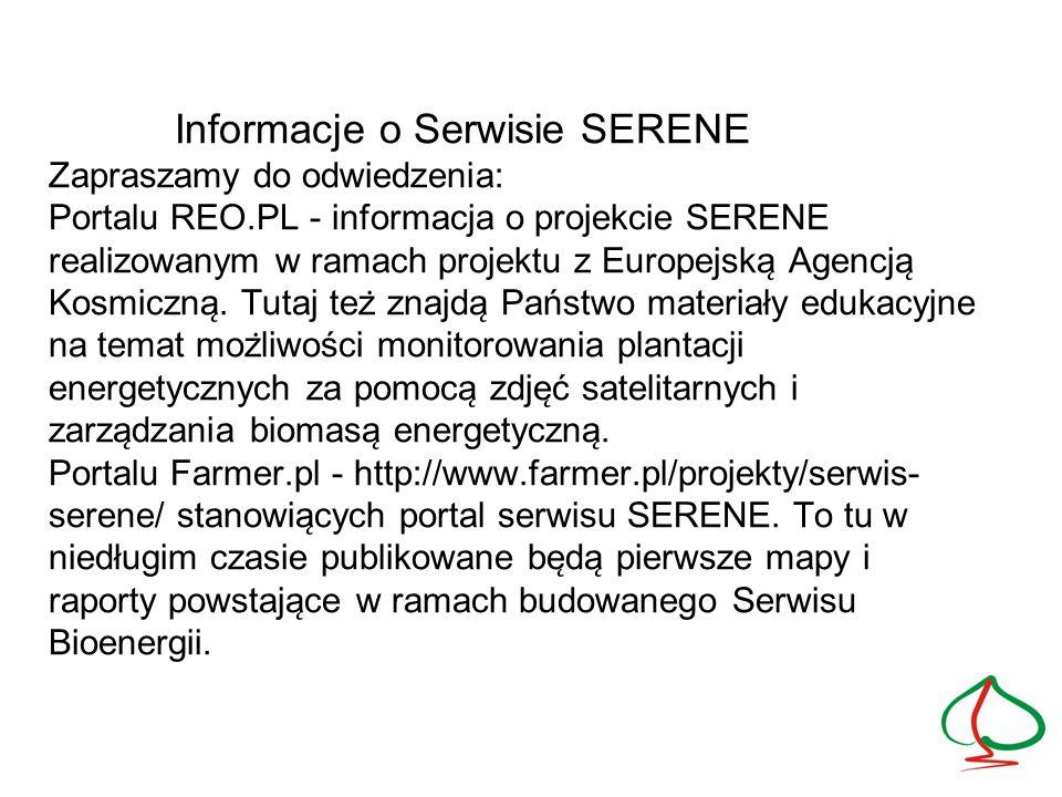 Informacje o Serwisie SERENE Zapraszamy do odwiedzenia: Portalu REO