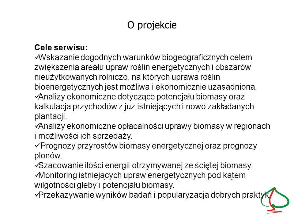 O projekcie Cele serwisu: