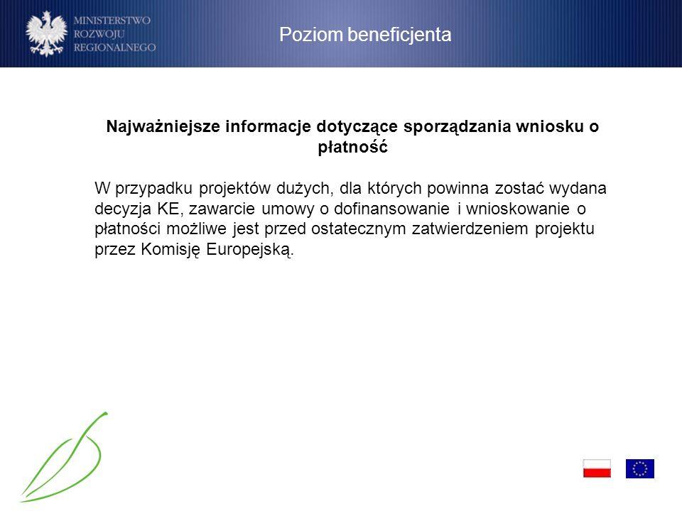 Najważniejsze informacje dotyczące sporządzania wniosku o płatność