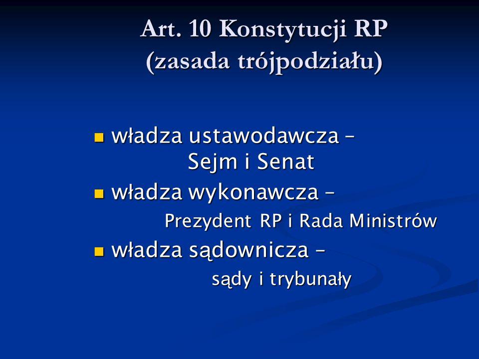 Art. 10 Konstytucji RP (zasada trójpodziału)