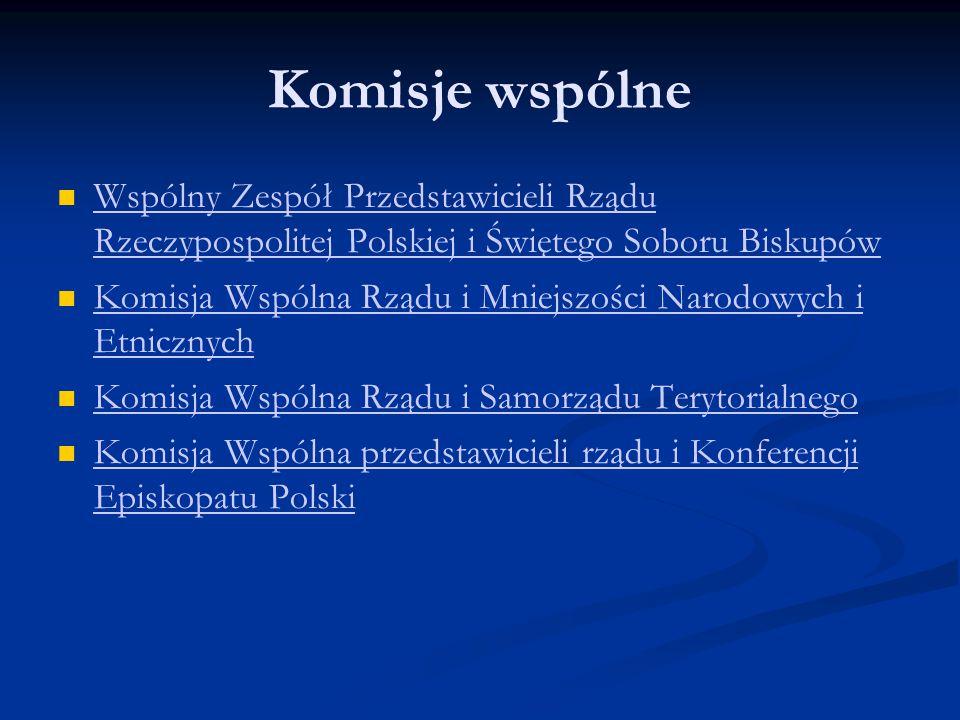 Komisje wspólne Wspólny Zespół Przedstawicieli Rządu Rzeczypospolitej Polskiej i Świętego Soboru Biskupów.