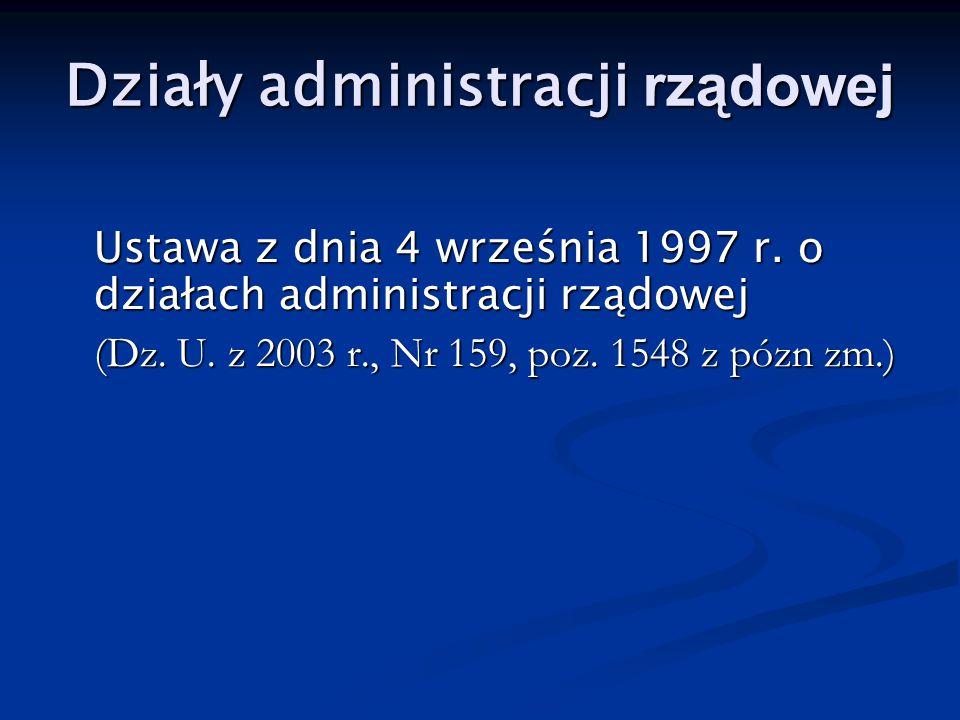 Działy administracji rządowej