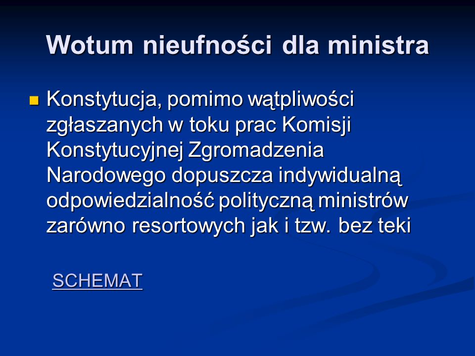 Wotum nieufności dla ministra