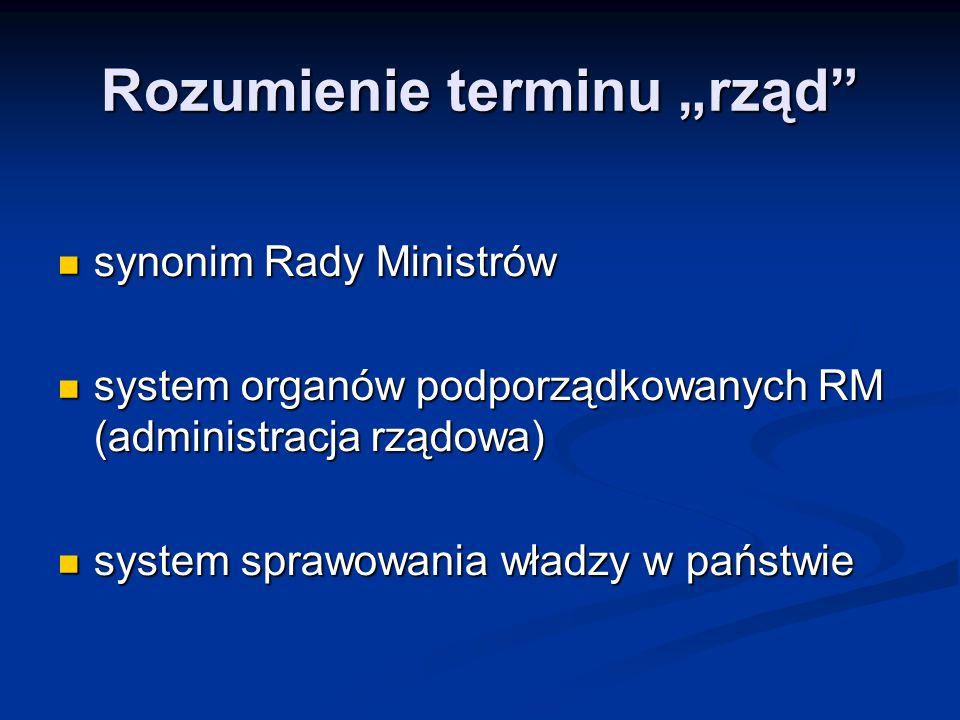 """Rozumienie terminu """"rząd"""