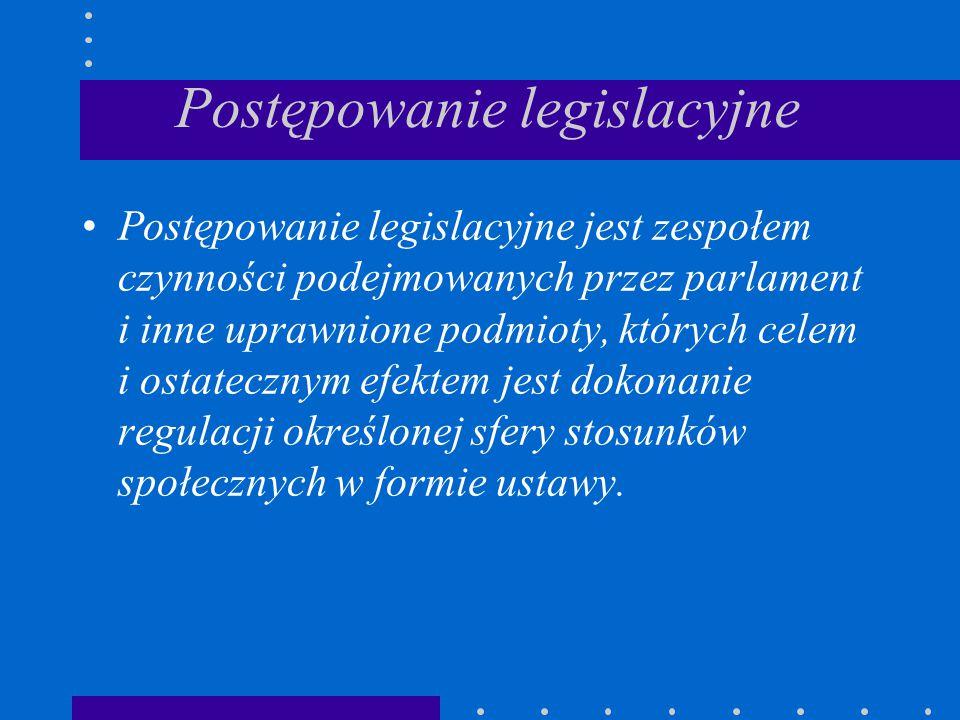 Postępowanie legislacyjne