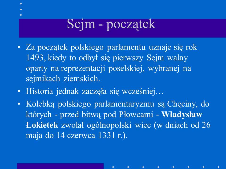 Sejm - początek