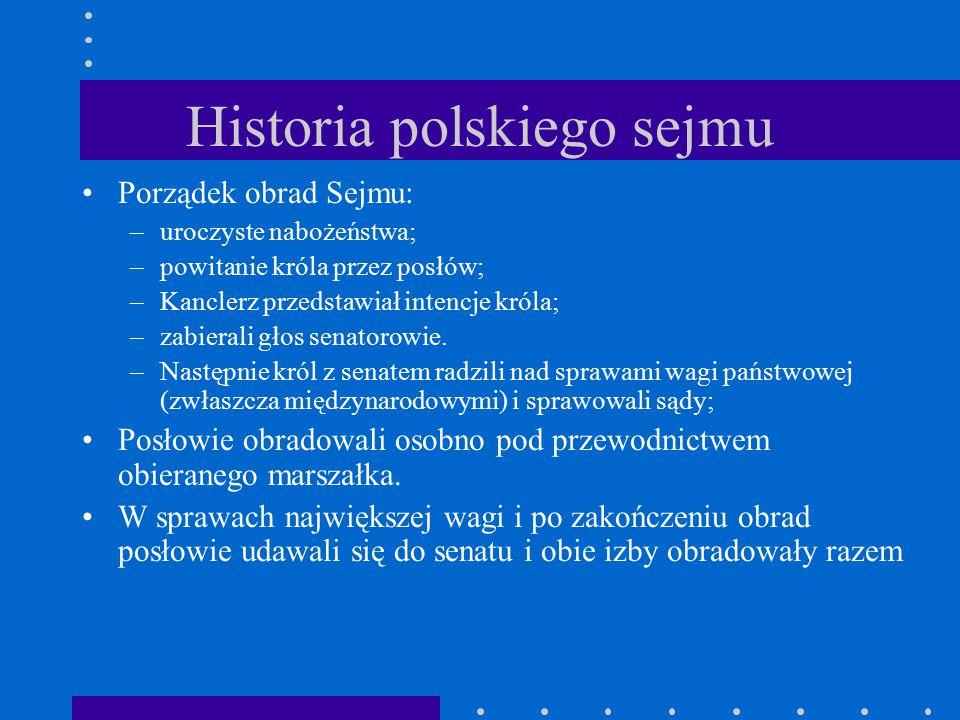 Historia polskiego sejmu