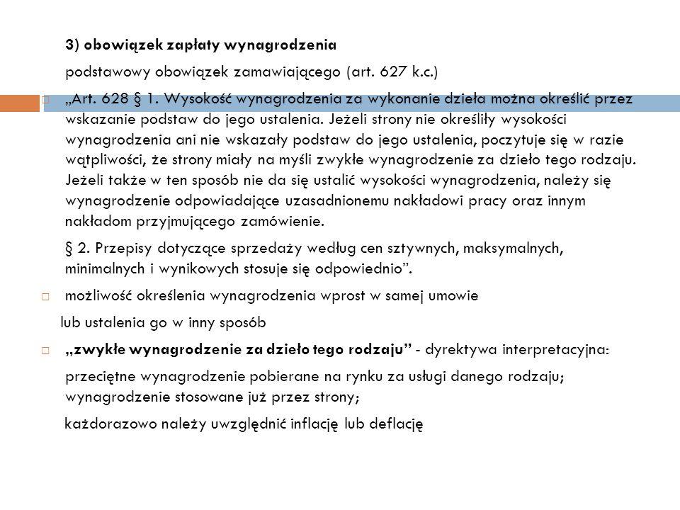 podstawowy obowiązek zamawiającego (art. 627 k.c.)