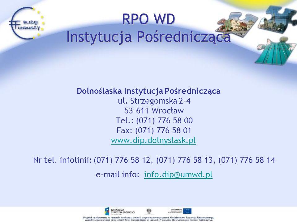 RPO WD Instytucja Pośrednicząca