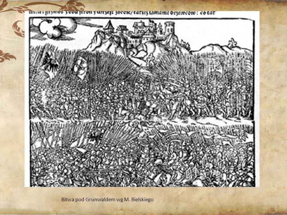 Bitwa pod Grunwaldem wg M. Bielskiego