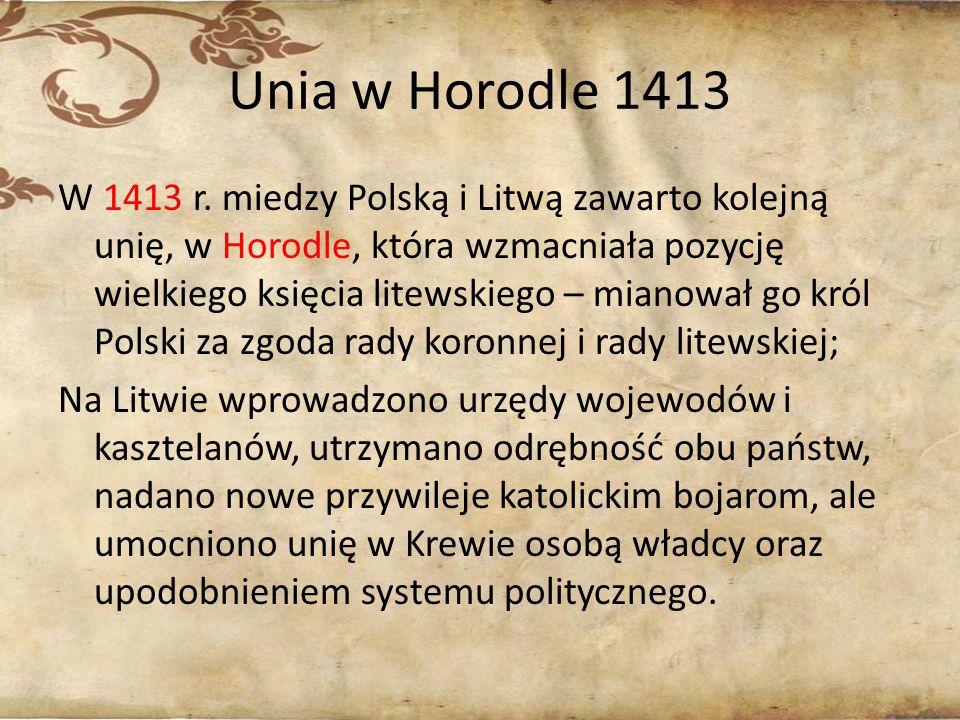 Unia w Horodle 1413