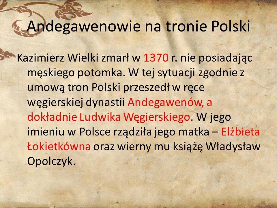 Andegawenowie na tronie Polski