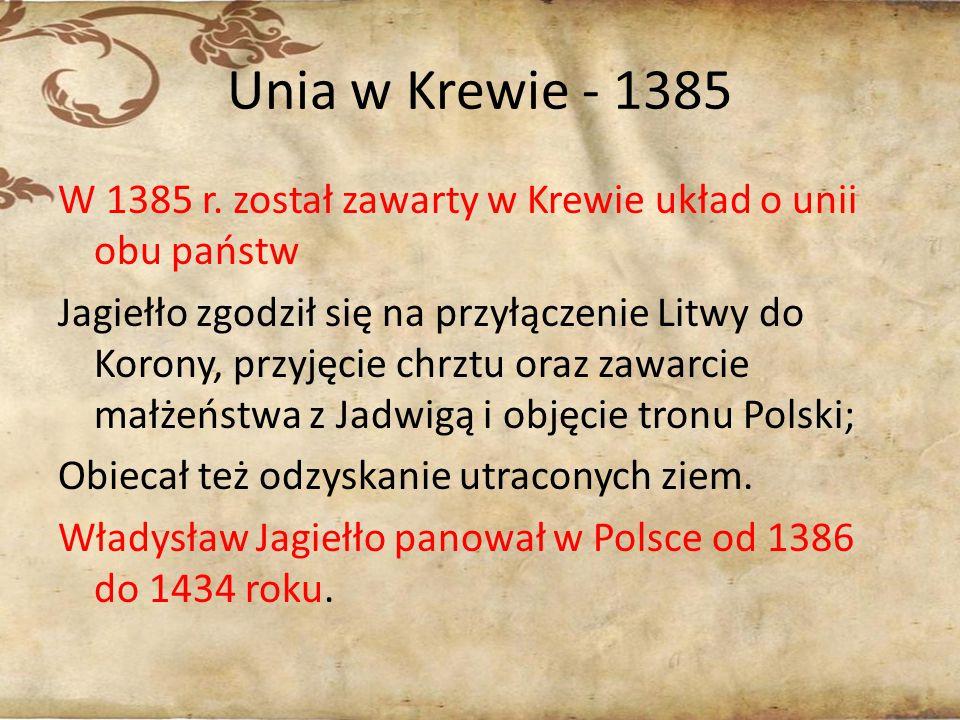 Unia w Krewie - 1385