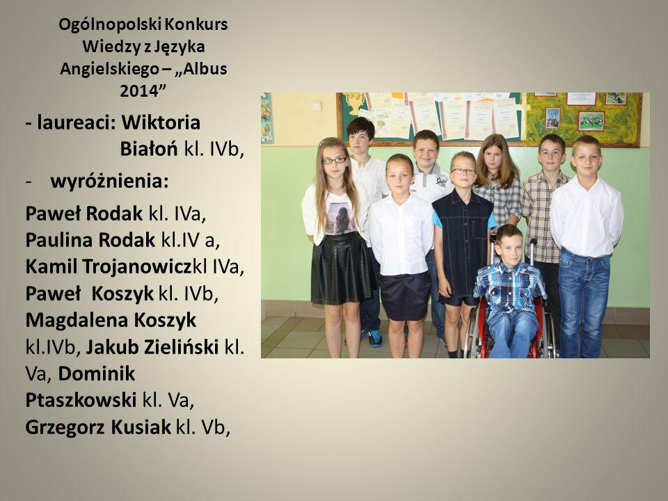 """Ogólnopolski Konkurs Wiedzy z Języka Angielskiego – """"Albus 2014"""
