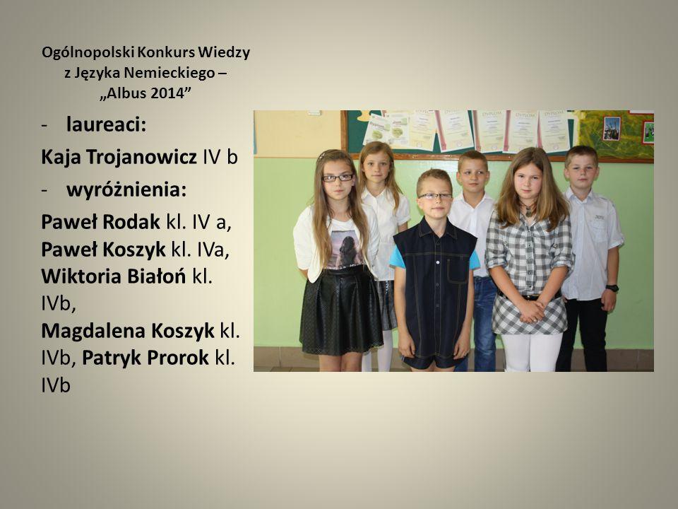 """Ogólnopolski Konkurs Wiedzy z Języka Nemieckiego – """"Albus 2014"""