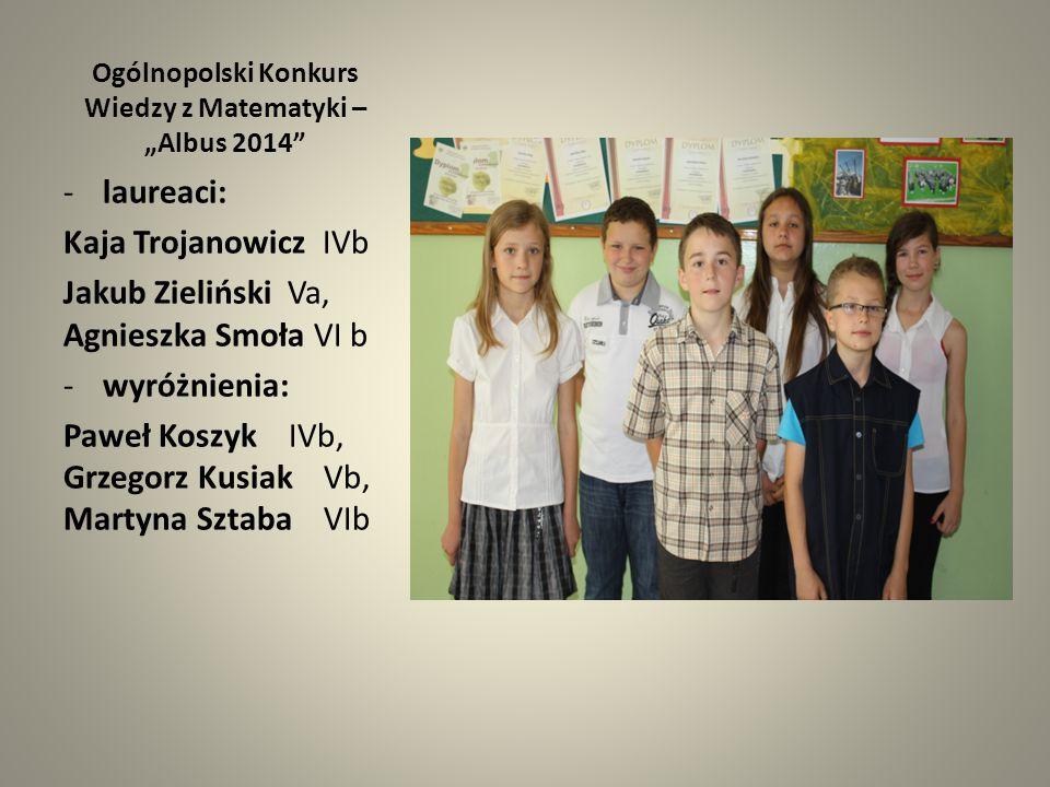 """Ogólnopolski Konkurs Wiedzy z Matematyki – """"Albus 2014"""