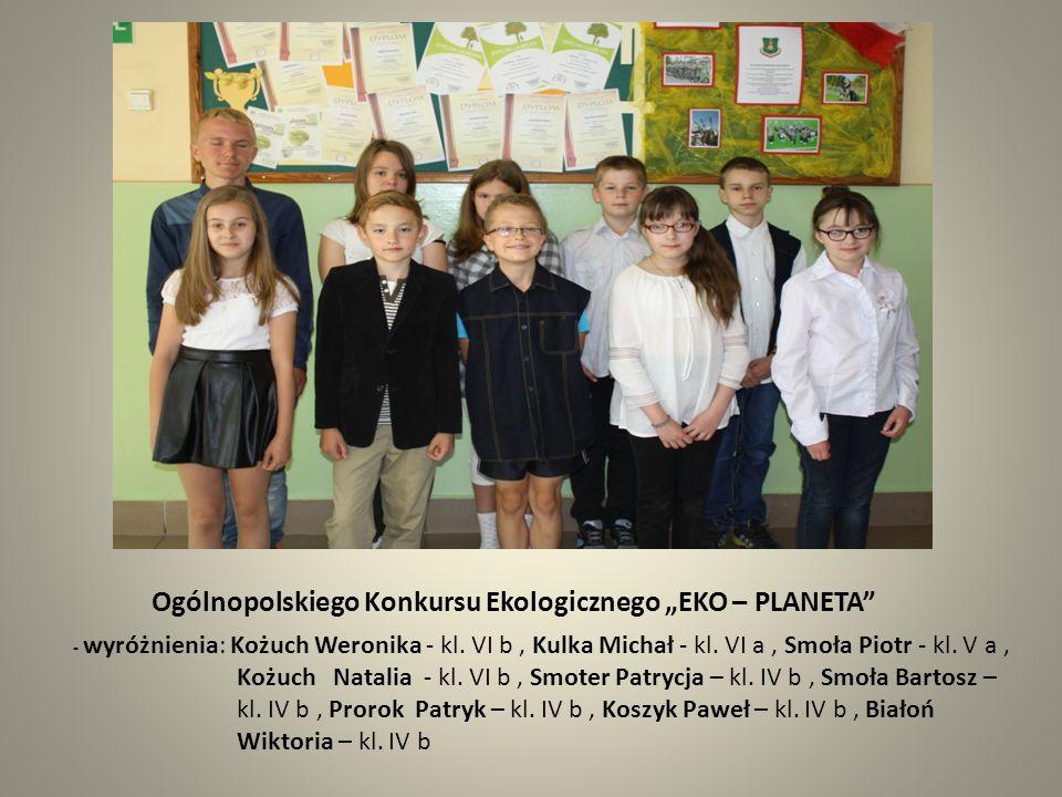 """Ogólnopolskiego Konkursu Ekologicznego """"EKO – PLANETA"""