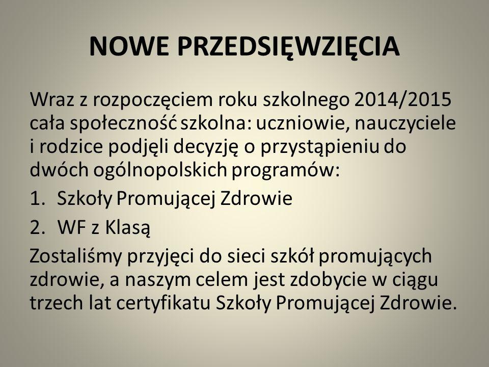 NOWE PRZEDSIĘWZIĘCIA