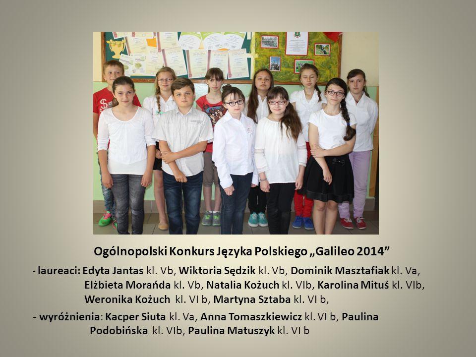 """Ogólnopolski Konkurs Języka Polskiego """"Galileo 2014"""