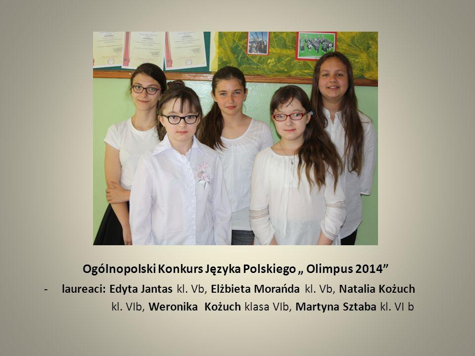 """Ogólnopolski Konkurs Języka Polskiego """" Olimpus 2014"""
