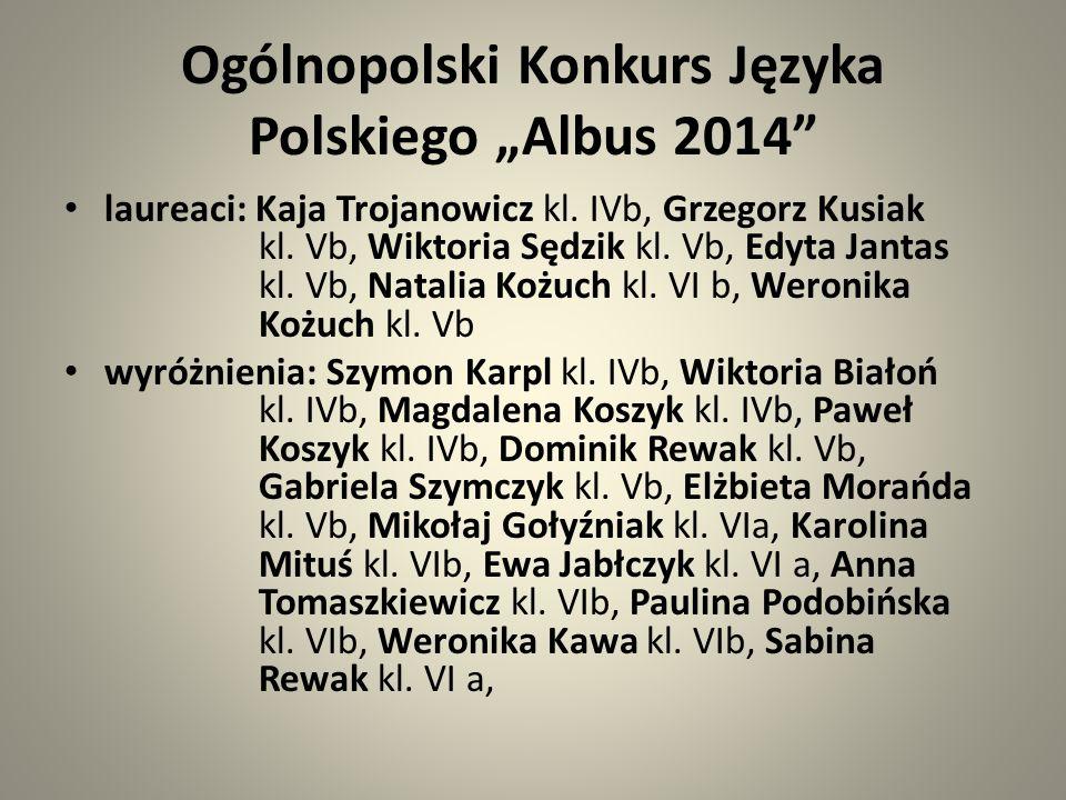 """Ogólnopolski Konkurs Języka Polskiego """"Albus 2014"""