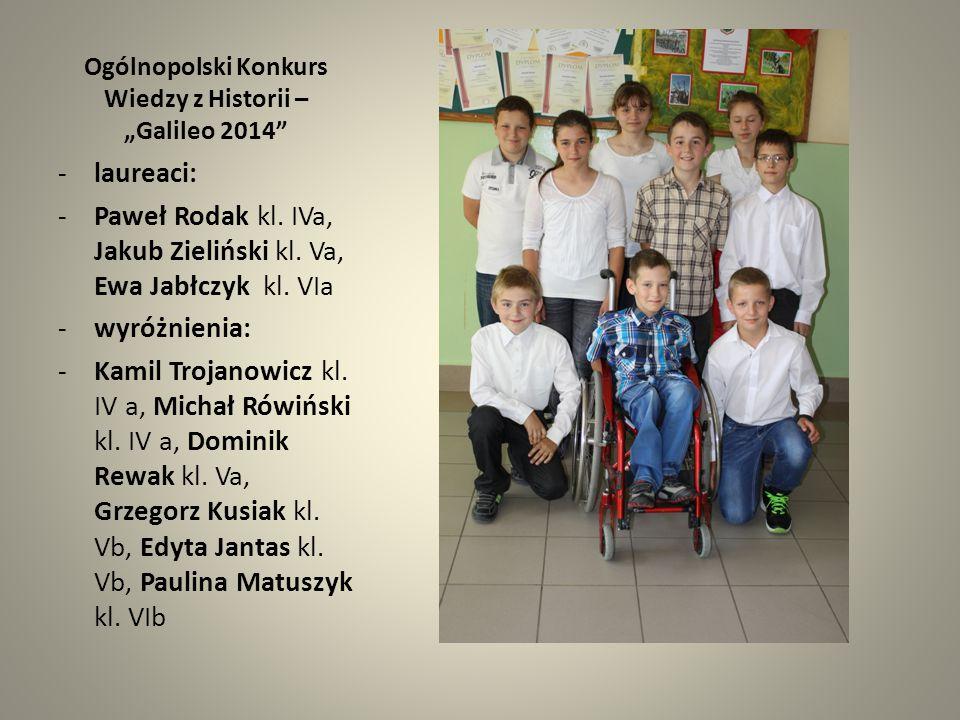 """Ogólnopolski Konkurs Wiedzy z Historii – """"Galileo 2014"""