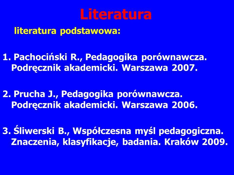 Literatura literatura podstawowa:
