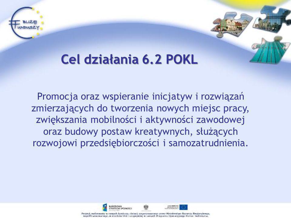 Cel działania 6.2 POKL Promocja oraz wspieranie inicjatyw i rozwiązań