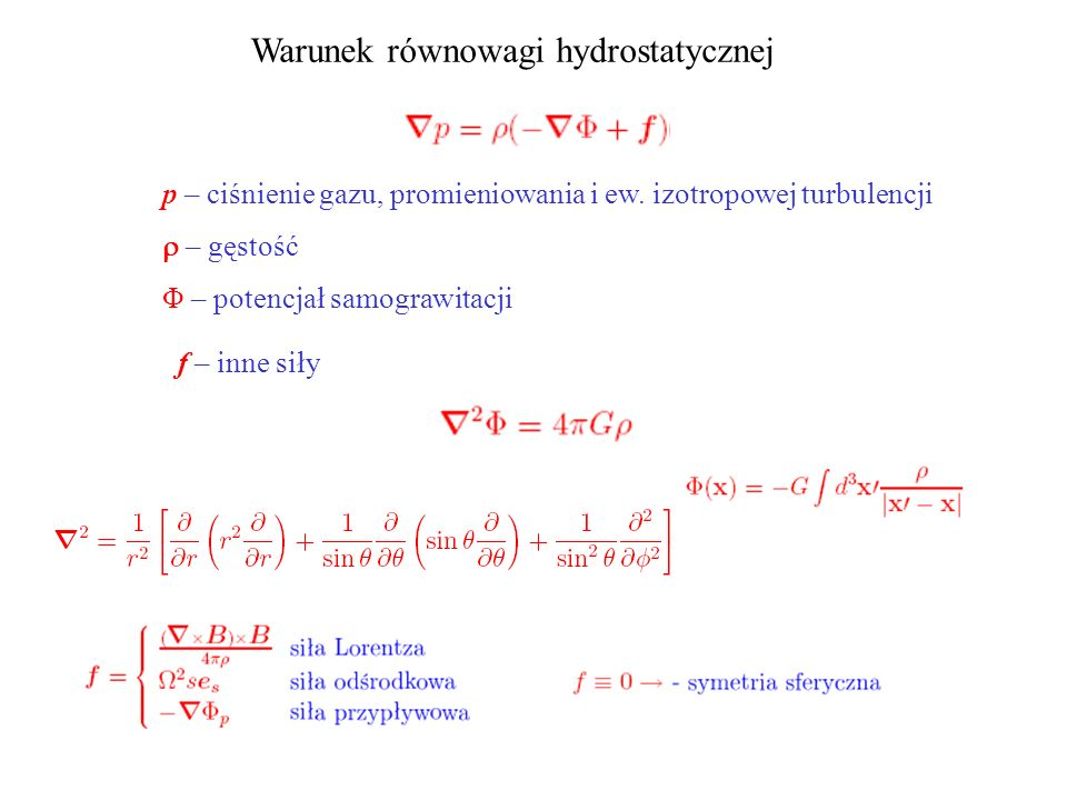 Warunek równowagi hydrostatycznej